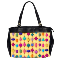 Colorful Background Stones Jewels Oversize Office Handbag (2 Sides) by HermanTelo