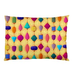 Colorful Background Stones Jewels Pillow Case (two Sides)