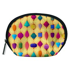 Colorful Background Stones Jewels Accessory Pouch (medium) by HermanTelo