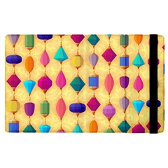 Colorful Background Stones Jewels Apple Ipad Mini 4 Flip Case by HermanTelo