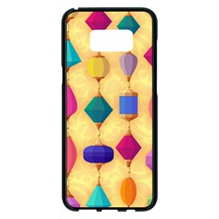Colorful Background Stones Jewels Samsung Galaxy S8 Plus Black Seamless Case