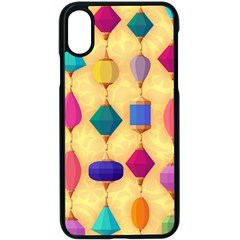 Colorful Background Stones Jewels Iphone Xs Seamless Case (black)