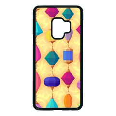 Colorful Background Stones Jewels Samsung Galaxy S9 Seamless Case(black)