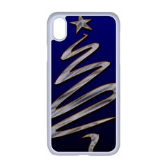 Christmas Tree Grey Blue Iphone Xr Seamless Case (white)