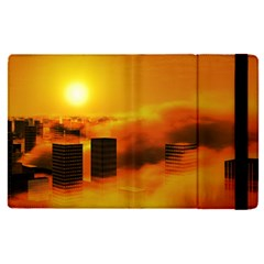 City Sun Clouds Smog Sky Yellow Apple Ipad Pro 12 9   Flip Case by HermanTelo