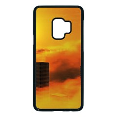 City Sun Clouds Smog Sky Yellow Samsung Galaxy S9 Seamless Case(black) by HermanTelo