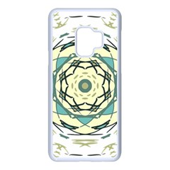 Circle Vector Background Abstract Samsung Galaxy S9 Seamless Case(white)