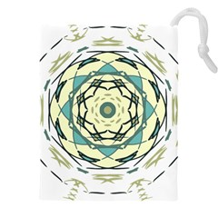 Circle Vector Background Abstract Drawstring Pouch (xxxl)