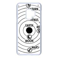 Earth Geocentric Jupiter Mars Samsung Galaxy S9 Seamless Case(white)