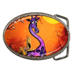 Funny Giraffe In The Night Belt Buckles by FantasyWorld7