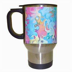 Eggs Happy Easter Rainbow Travel Mugs (white) by HermanTelo