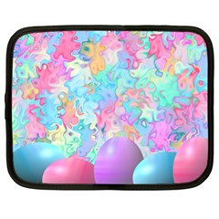 Eggs Happy Easter Rainbow Netbook Case (xl) by HermanTelo