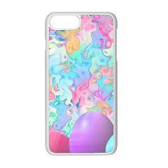 Eggs Happy Easter Rainbow Iphone 8 Plus Seamless Case (white)