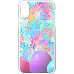Eggs Happy Easter Rainbow Iphone X Seamless Case (white)