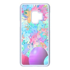 Eggs Happy Easter Rainbow Samsung Galaxy S9 Seamless Case(white)