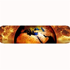 Earth Globe Water Fire Flame Large Bar Mats by HermanTelo