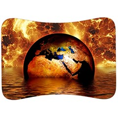Earth Globe Water Fire Flame Velour Seat Head Rest Cushion
