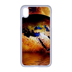 Earth Globe Water Fire Flame Iphone Xr Seamless Case (white)