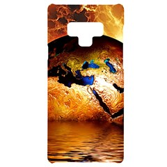 Earth Globe Water Fire Flame Samsung Note 9 Black Uv Print Case  by HermanTelo