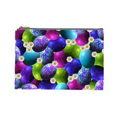 Eggs Happy Easter Cosmetic Bag (large)