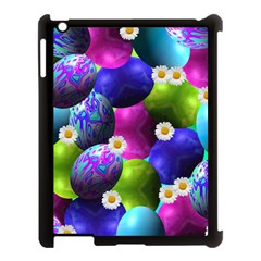 Eggs Happy Easter Apple Ipad 3/4 Case (black) by HermanTelo