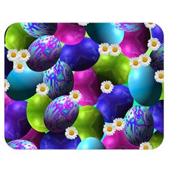Eggs Happy Easter Double Sided Flano Blanket (medium)