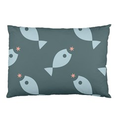 Fish Star Water Pattern Pillow Case (two Sides)