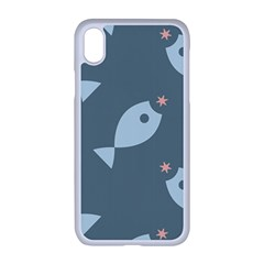 Fish Star Water Pattern Iphone Xr Seamless Case (white)