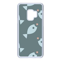 Fish Star Water Pattern Samsung Galaxy S9 Seamless Case(white) by HermanTelo