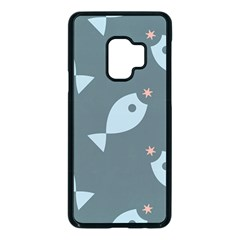 Fish Star Water Pattern Samsung Galaxy S9 Seamless Case(black)