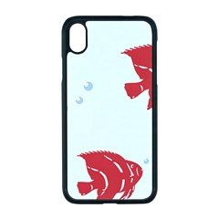 Fish Red Sea Water Swimming Iphone Xr Seamless Case (black)