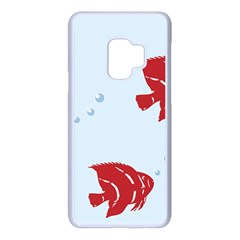 Fish Red Sea Water Swimming Samsung Galaxy S9 Seamless Case(white)