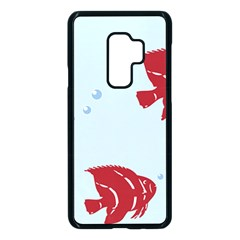 Fish Red Sea Water Swimming Samsung Galaxy S9 Plus Seamless Case(black)