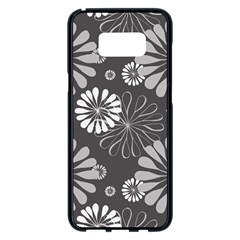 Floral Pattern Samsung Galaxy S8 Plus Black Seamless Case