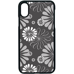 Floral Pattern Iphone X Seamless Case (black)