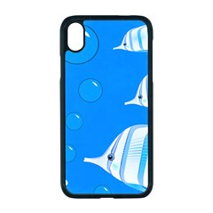 Fish School Bubbles Underwater Sea Iphone Xr Seamless Case (black)