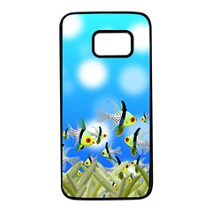 Fish Underwater Sea World Samsung Galaxy S7 Black Seamless Case by HermanTelo