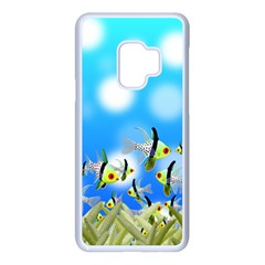Fish Underwater Sea World Samsung Galaxy S9 Seamless Case(white)