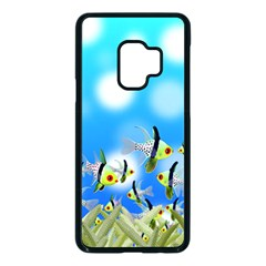 Fish Underwater Sea World Samsung Galaxy S9 Seamless Case(black)