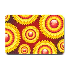 Floral Abstract Background Texture Small Doormat  by HermanTelo