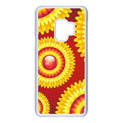 Floral Abstract Background Texture Samsung Galaxy S9 Seamless Case(white)