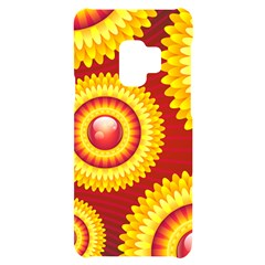 Floral Abstract Background Texture Samsung S9 Black Uv Print Case