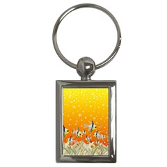 Fish Snow Coral Fairy Tale Key Chain (rectangle)