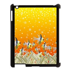 Fish Snow Coral Fairy Tale Apple Ipad 3/4 Case (black) by HermanTelo