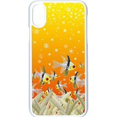 Fish Snow Coral Fairy Tale Iphone X Seamless Case (white)