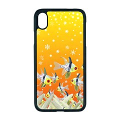 Fish Snow Coral Fairy Tale Iphone Xr Seamless Case (black)