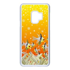 Fish Snow Coral Fairy Tale Samsung Galaxy S9 Seamless Case(white)