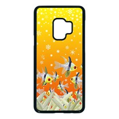 Fish Snow Coral Fairy Tale Samsung Galaxy S9 Seamless Case(black)