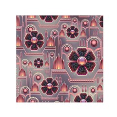 Floral Flower Stylised Small Satin Scarf (square)