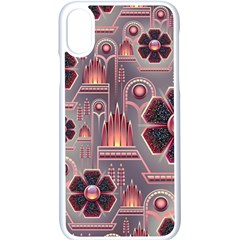 Floral Flower Stylised Iphone X Seamless Case (white)